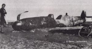 Abgeschossenes Flugzeug, Draßburg