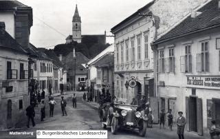 Die Judengasse in Mattersburg um 1935.