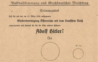 Abstimmungszettl vom 10. April 1938