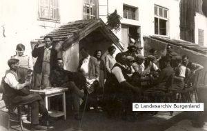 Buschenschenke in Eisenstadt-Oberberg vor 1938.